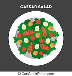 How to cook caesar salad at home - Caesar salad in the...
