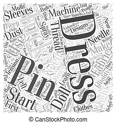 How to Craft Doll Dresses Word Cloud Concept