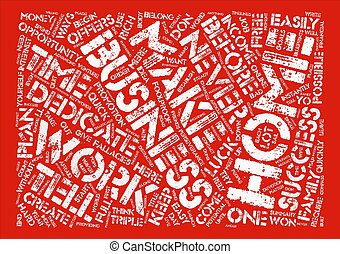 How To Create A Successful Home Business text background word cloud concept