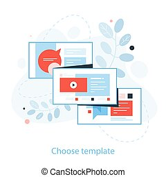 How to create a website. Web banner concept.