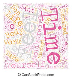 How To Develop A Motivated Mindset text background wordcloud...