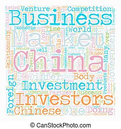 How to do business in China text background wordcloud concept