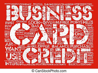 How To Find A Good Business Credit Card Word Cloud Concept Text Background