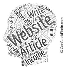 How to Generate Passive Income with Articles 1 text background wordcloud concept