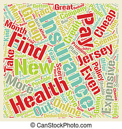 How To Get Cheap Health Insurance Online In New Jersey text background wordcloud concept