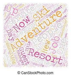 How To Get In On The Adventure Ground Floor text background wordcloud concept