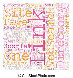 How To Get One Way Links To Your Web Site text background ...