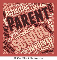 How To Get Parents Involved With School Activities text background wordcloud concept