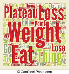 How To Get Past a Weight Loss Plateau text background word...