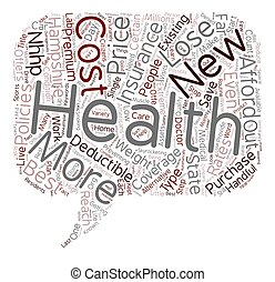 How To Get The Best Rates On Health Insurance In New Hampshire text background wordcloud concept