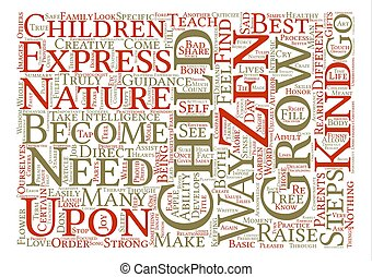 How To Grow A Zen Child text background word cloud concept