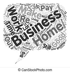 How To Grow Your Income With A Reliable Home Business text background word cloud concept