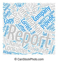 How To Improve Your Credit Report text background wordcloud concept