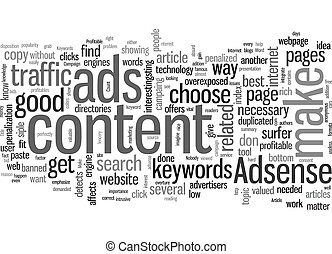 How To Make A Profitable Adsense Campaign text background ...