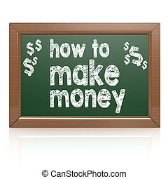 How to Make Money on a chalkboard image with hi-res rendered...