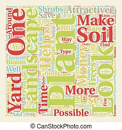 How to make your landscape look good text background wordcloud concept