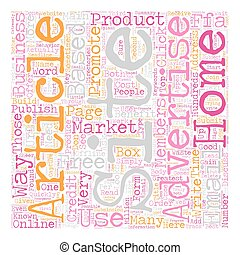 How To Market Your Home Based Business Online text background wordcloud concept