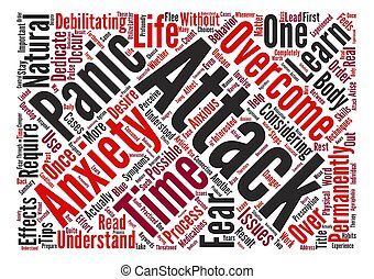 How To Overcome Anxiety And Panic Attacks Permanently text background word cloud concept