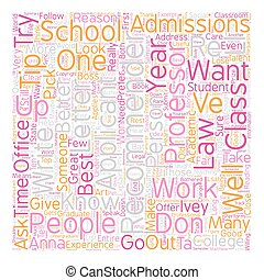How to Pick Your Recommenders text background wordcloud concept