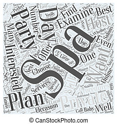 How to Plan a Private Party at a Day Spa Word Cloud Concept