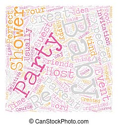 How to Plan for a Perfect Baby Shower Party text background wordcloud concept