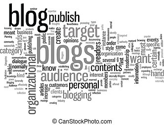 How to Plan Your Blog text background wordcloud concept