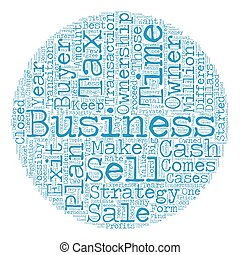 How to Plan Your Business Exit Strategy text background wordcloud concept