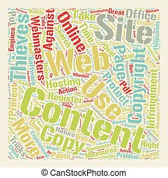 How To Protect Your Website Content text background wordcloud concept