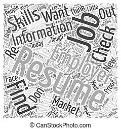 How To Remove The White Lies In Your Resume Before They Are Spot Word Cloud Concept