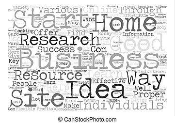 How To Research Home Business Ideas Word Cloud Concept Text Background