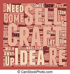 How To Sell Your Crafts text background wordcloud concept