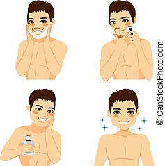 How To Shave Man Steps - How to shave man beard steps using...