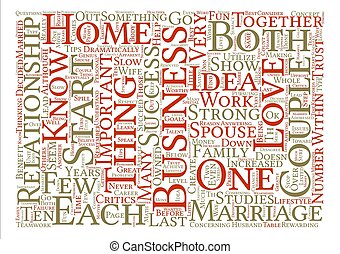How To Start A Successful Home Business With Your Spouse Word Cloud Concept Text Background