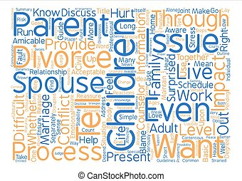 How to Tell Your Children About Divorce Word Cloud Concept Text Background