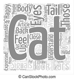 How to Understand your Cat text background word cloud...