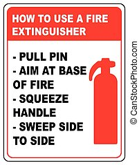 How to use a fire extinguisher informational banner vector...