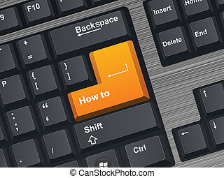 How to - Vector Illustration of a computer keyboard.