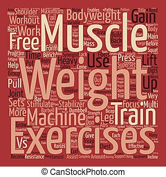 How To Weight Train For Maximum Muscle Gain text background ...