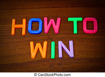 How to win in colorful toy letters