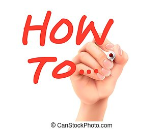 how to words written by hand