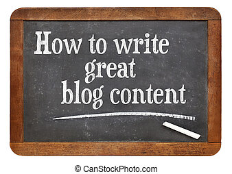 How to write great blog content - tutorial headline on a ...
