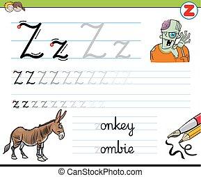 how to write letter z worksheet for kids