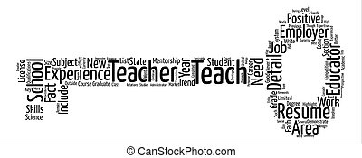 How To Write The Best Teacher Resume You Can text background word cloud concept