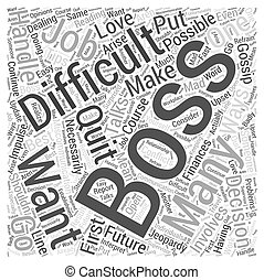 How You Should Handle a Difficult Boss Word Cloud Concept