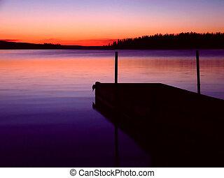 Howe Bay - It's a dock on a northern Saskatchewan Lake at ...