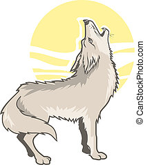 Howling Coyote - A coyote howling at the moon