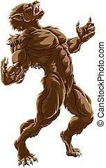 Howling Werewolf Monster