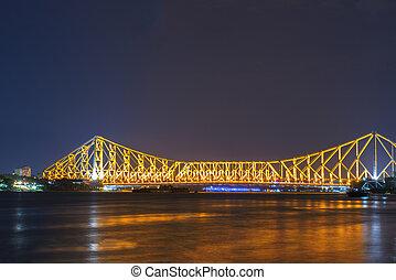 Howrah bridge in golden glow - I shoot it in Howrah, India.