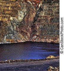 hoyo abierto, minería