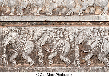 Hoysala Architecture - A section from the world famous...